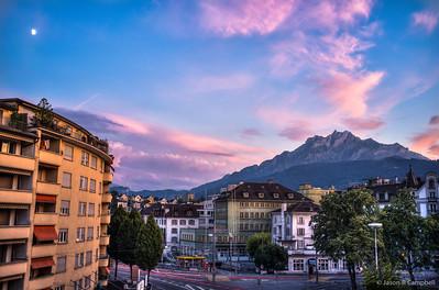 Luzern Cascada Hotel View