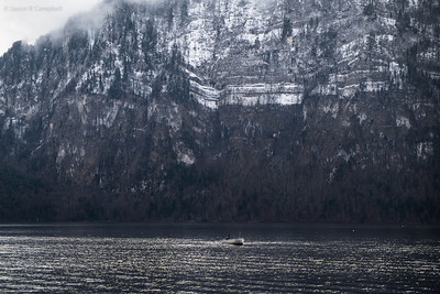 Small Boat on Lucerne Lake
