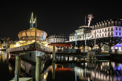 Lake Lucerne Dock Reflections