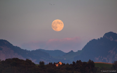 Moon Rising Lake Lucerne