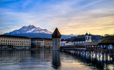 Dusk on Lake Lucerne