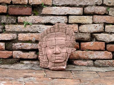 Face Sculpture in Thailand