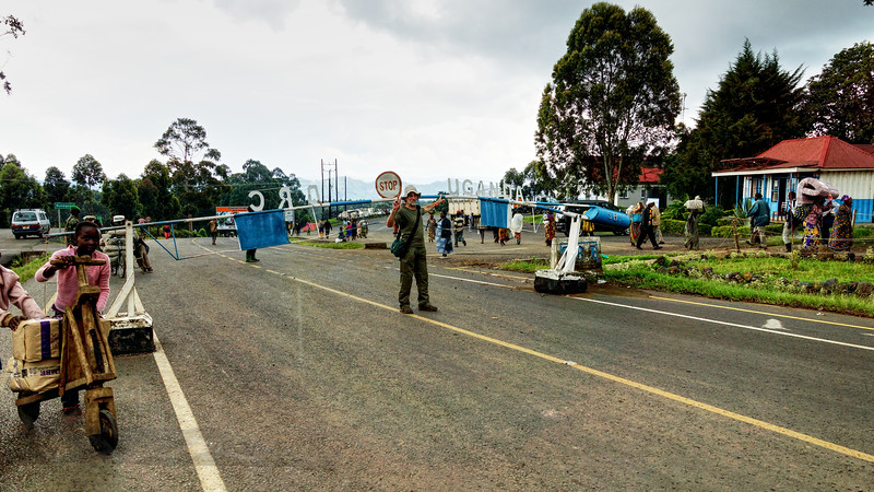The Border Crossing between Uganda and The Democratic Republic of Congo