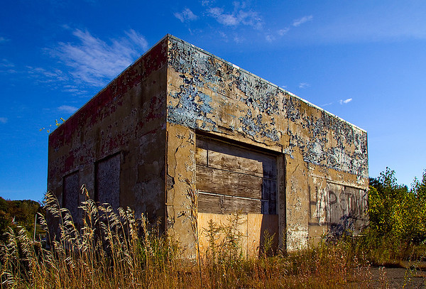 Abandoned truck stop, Kittery, Maine