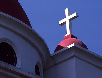 Detail of a Greek Orthodox Church in the Galilee