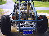 Rail Buggy motor, Two 2 Barrel Carbs and all the goodies..<br /> This is an old 4x6 image taken in 1994 with a disposable camera, I just scanned them onto the computer.