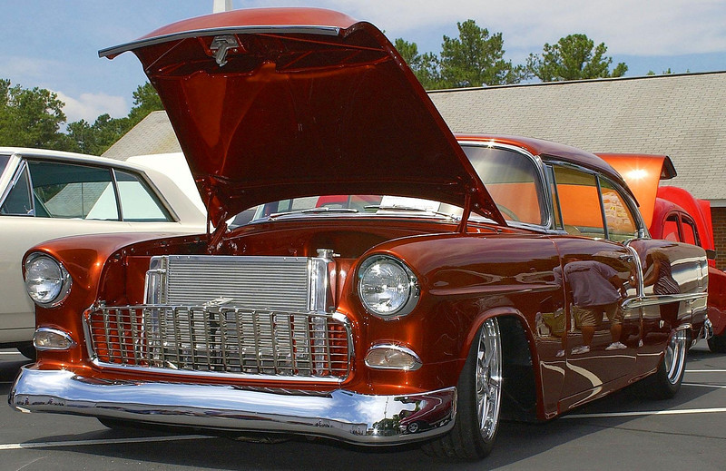 This is one sweet 55 Chevy