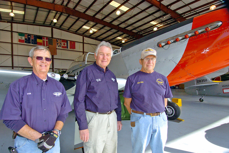Vietnam Cold War veterans from let, Don Burgess, Tony Stein and Calvin Barley.