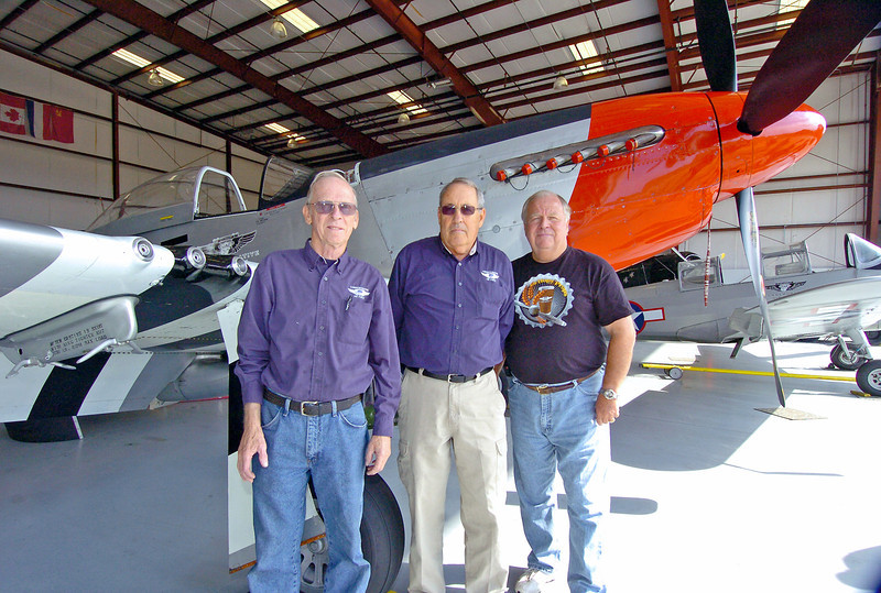 Vietnam Cold War veterans from left, Lonnie Webster, Jim Thompson and Colonel Bob Grove.