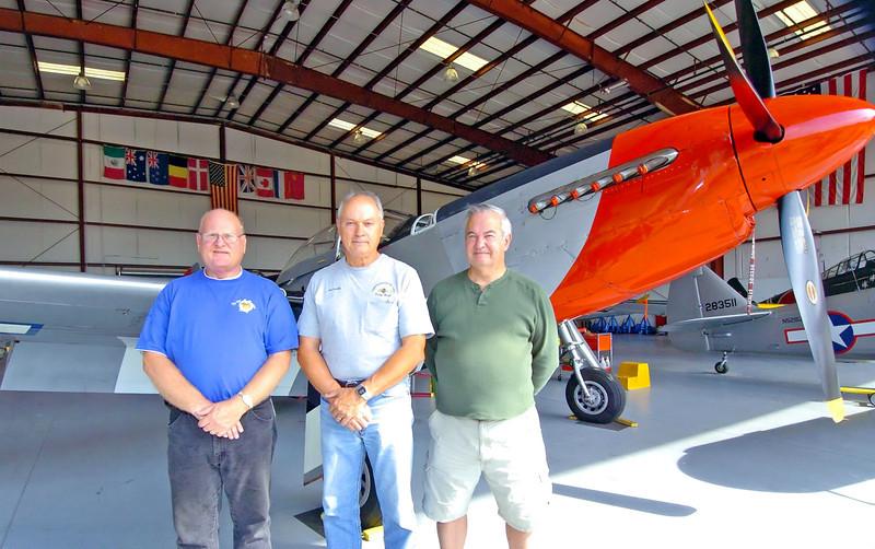 From left,Vietnam cold war Veterans Doug Franklin, Jim Arnold and Neill McNeill.