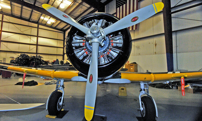 """This airplane is actually a heavily modified AT-6 with fuselage plug and BT-13 tailfeathers. During filming of the movie """"Tora! Tora! Tora!"""", they needed Japanese torpedo bombers. Unfortunately, none exist any longer because the Japanese were forced to destroy all of them after the war. So the movie producers decided they would make some...(see more aerial shots, photo 1, and photo2). You can find out more at  <a href=""""http://www.japanesebomber.com"""">http://www.japanesebomber.com</a>."""