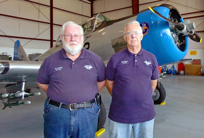 Korean War veterans Bob Bouthiller and Dave Becker.