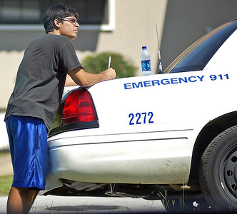 This is the truck driver filling out the incident report...