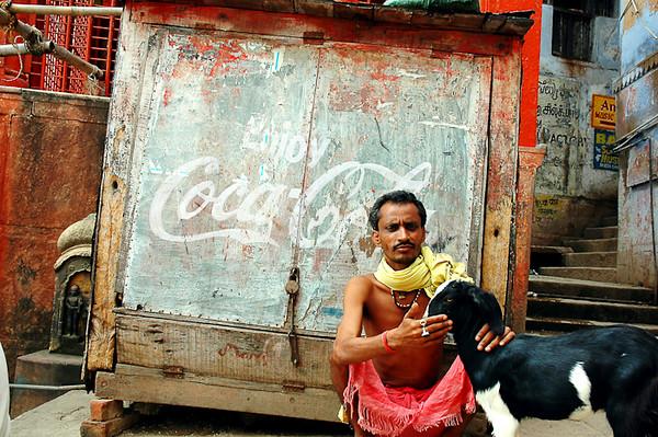 The Boat Man and his Goat<br /> -Varanasi, India