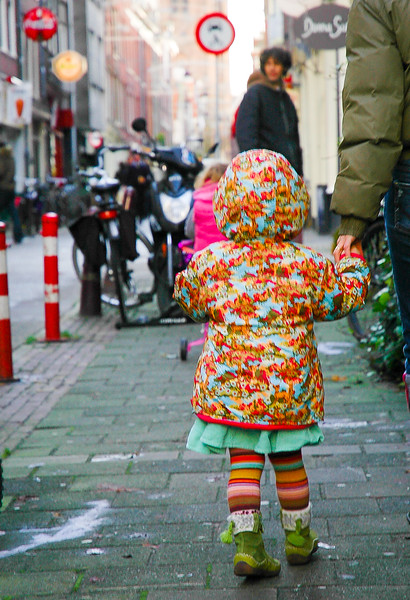 Girl Strolling<br /> -Amsterdam, The Netherlands