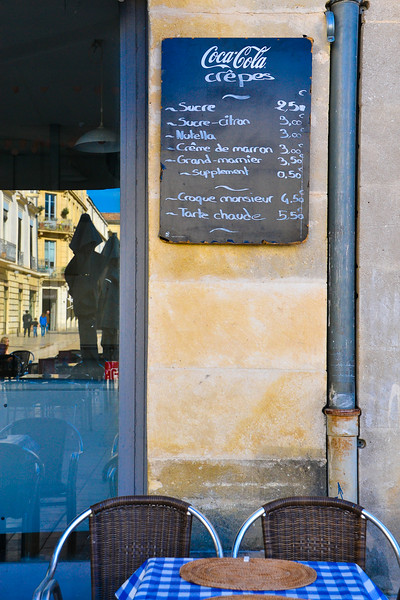 Crêpes for Sale<br /> Nîmes<br /> Languedoc-Roussillon Region, South France