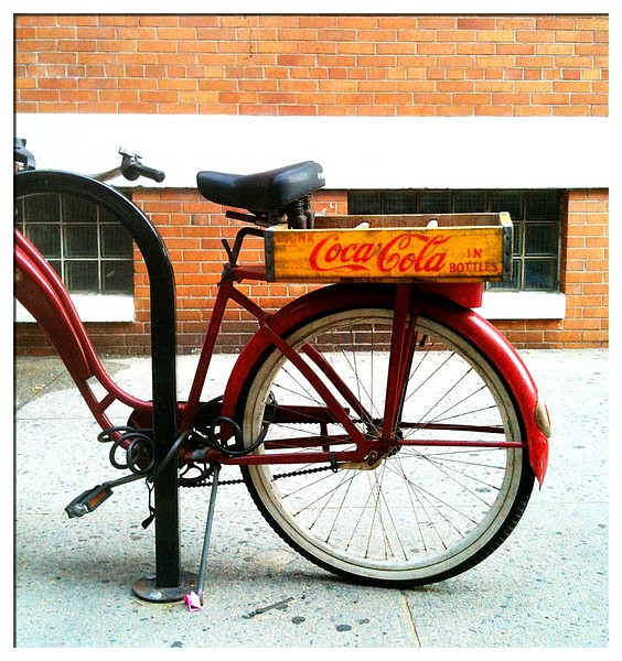 Parked Bike <br /> -Greenwich Village, NYC<br /> (iPhone shot)