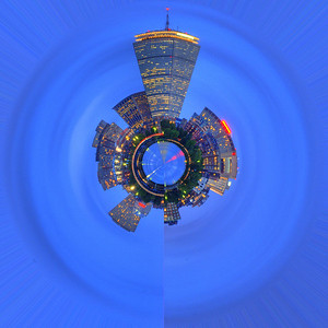 Planet Boston Skyline