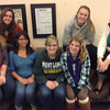 Visiting Core Group 2012-2013: Hannah Ponek (Core Group Director), Kaitlyn Hughes (Agape), Melinda Reyes (Agape), Natalie Hannaford (Elderly Outreach), Jessie Christian (Elderly Outreach), Nicole Simon (Healers' Hands), Kelly Burtnett (Juvenile Prison)