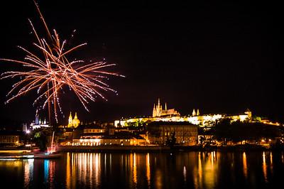 Firework in Praha