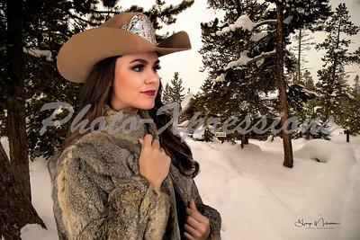 Carla fur coat in Yellowstone