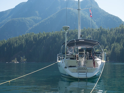 Anchored in Pendrell Sound, BC