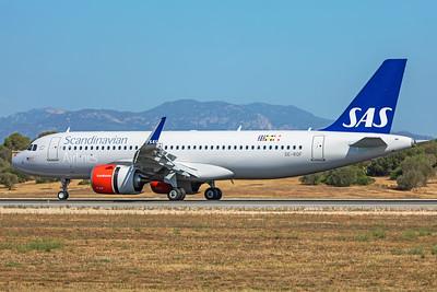 SAS Scandinavian Airlines Airbus A320-251N SE-ROF 7-18-19