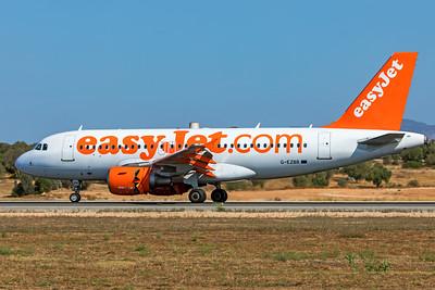easyJet Airbus A319-111 G-EZBB 7-18-19
