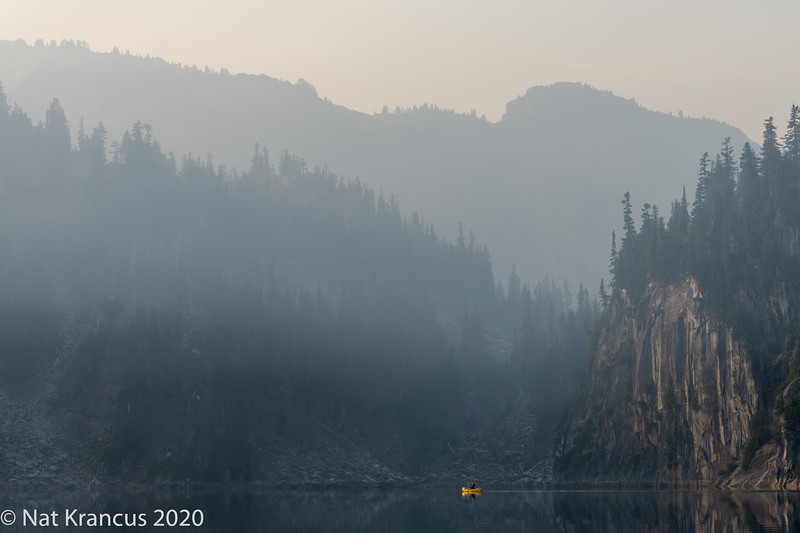 Early Morning Smoke, Alpine Lake Wilderness, Washington State, September 2017