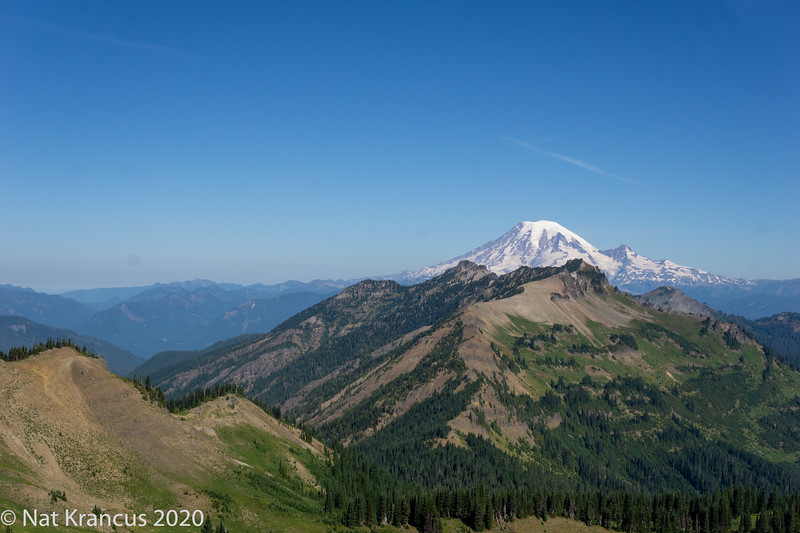 Mount Rainier and Goat Rocks Wilderness During the Eclipse, August., 2017