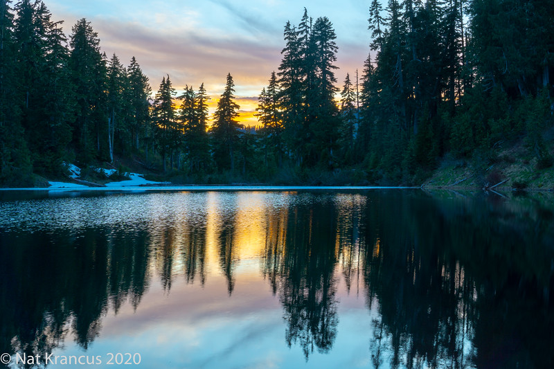 Sundown Lake, Olympic National Park, Washington State, May 2019