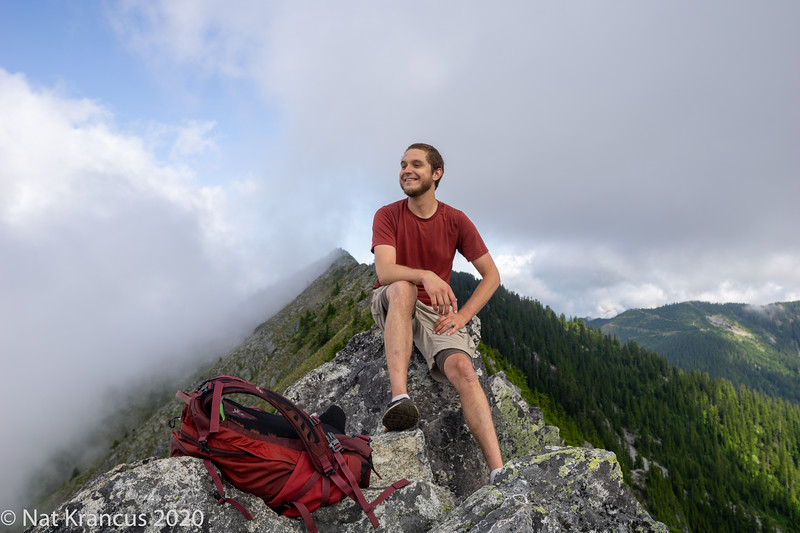 Mike in the Alpine Lake Wilderness, Washington State, July 2019