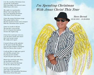 STEVE BERNAL SPENDING CHRISTMAS WITH JESUS