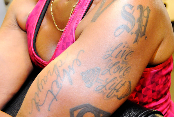 Don Knight | The Herald Bulletin<br /> Shyrley Jones tattoos reflect her healthy lifestyle.