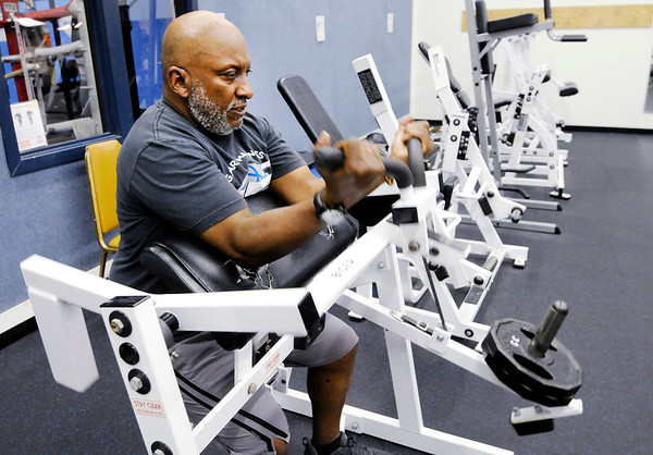 Don Knight | The Herald Bulletin<br /> Stan Barclay works out at the Geater Center.
