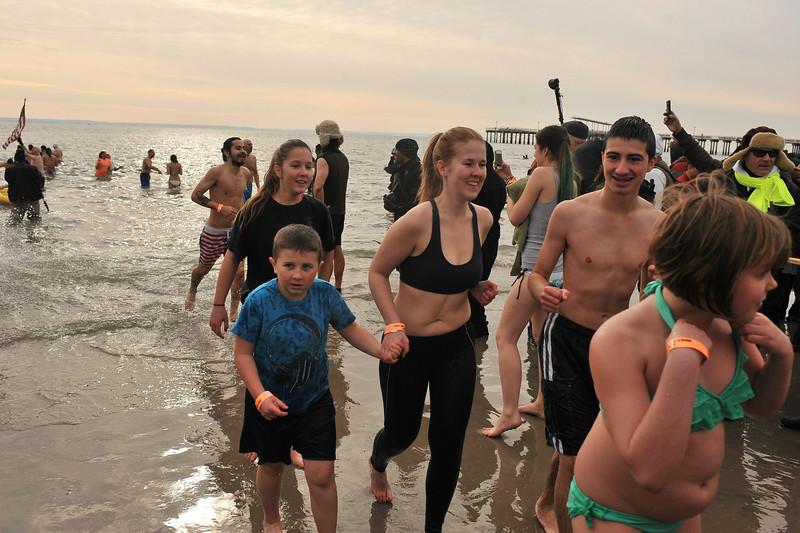 2014 POLAR BEAR CLUB'S NEW YEAR'S DAY PLUNGE - Coney Island, Brooklyn NY