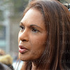 Gina Miller outside the Royal Court of Justice in the Strand.