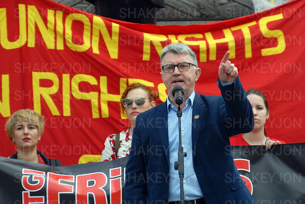 London, UK Mayday 2018 rally in Trafalgar Square.- 1 May 2018