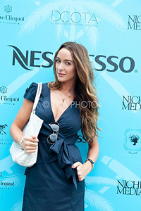 (fashion) Courtney Bingham - wearing BCBG Dress, Manola Blahnik shoes, Goyard Bag