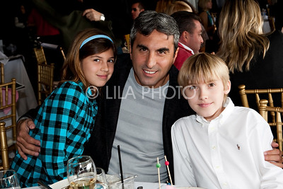 Joe Taverrite, with his kids Max and Siena.