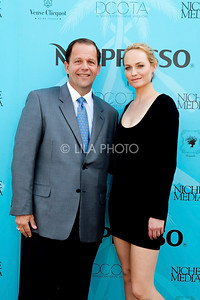 John Wash (International Polo Club President) with Ocean Drive Magazine Cover Model Amber Valleta