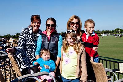 Christine Dirocco, Elissa Pike with baby Kenzee, Marlo Massey (back row) with her children Wyatt and Miranda, © LILA PHOTO