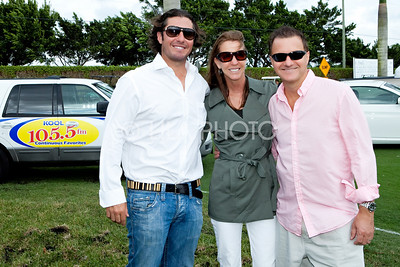 L-R: Pro Tennis Player Vince Spadea, Sally and Mo from Kool 105.5 FM
