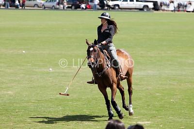 Khloe Kardashian getting a polo lesson