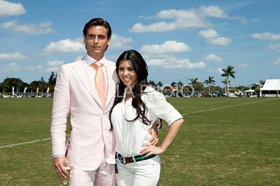 Scott Disick, Kourtney Kardashian at International Polo Club