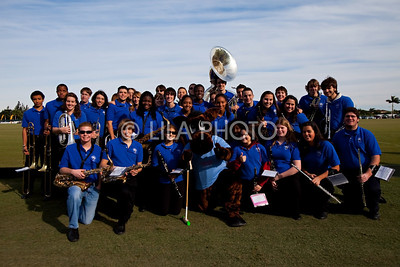 Wellington High School Marching Band with IPC Mascot Chukker ;photography by: LILA PHOTO