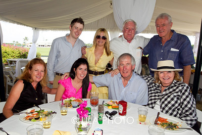 (back row) Dr. Stephen Jones, Ashley Barker, Jim O'Mahoney, Denis Quinlan, (first row) Laurel Byrne, Kate Byrne, Mike Byrne, Sandi Quinlan
