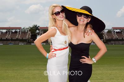 Abi Beaux wearing Calvin Klein, Christianne Christensen wearing Intermix and vintage Balmain hat