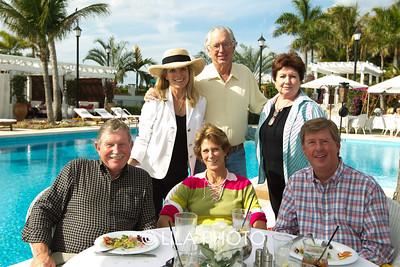 (back row) Kathleen and John Dunagan, Rhonda Eagle, (front row) Ralph Eagle, Candra and Rex Seley