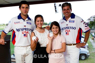 Kiahna and Samaya Perez with Nespresso Models